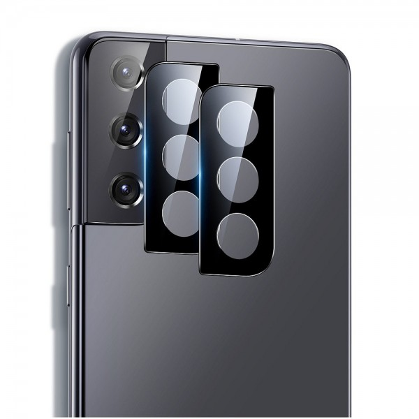 Folie Sticla Securizata Esr Pentru Camera Compatibila Cu Samsung S21, Negru, 2 Bucati imagine itelmobile.ro 2021