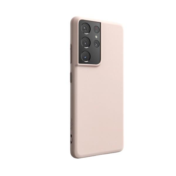 Husa Premium Ringke Air Pentru Samsung Galaxy S21 Ultra, Silicon, Roz imagine itelmobile.ro 2021