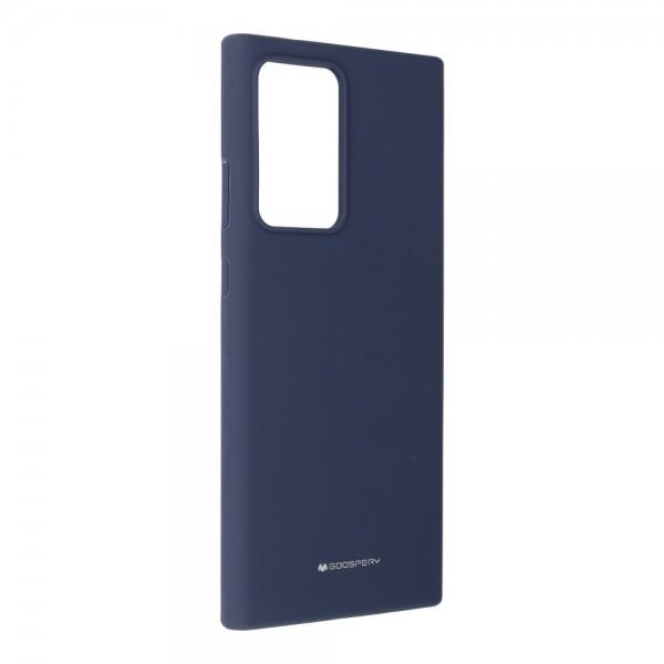 Husa Spate Mercury Silicone Compatibila Cu Samsung Galaxy Note 20 Ultra, Interior Alcantara Soft , Navy Albastru imagine itelmobile.ro 2021