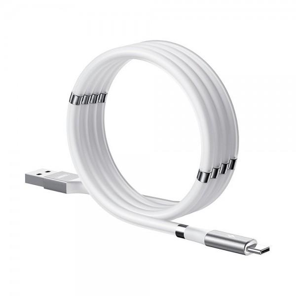 Cablu Date Incarcare Remax Mganetic Storing Compatibil Cu Dispozitive Cu Mufa Type-c, 2.1a, Alb - Rc-125a imagine itelmobile.ro 2021