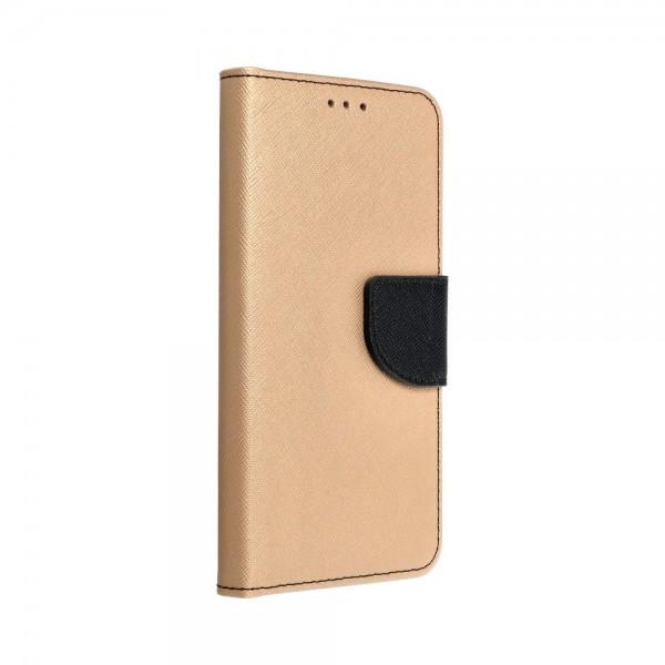Husa Flip Carte Upzz Fancy Book Compatibila Cu Samsung Galaxy A41, Gold Negru imagine itelmobile.ro 2021