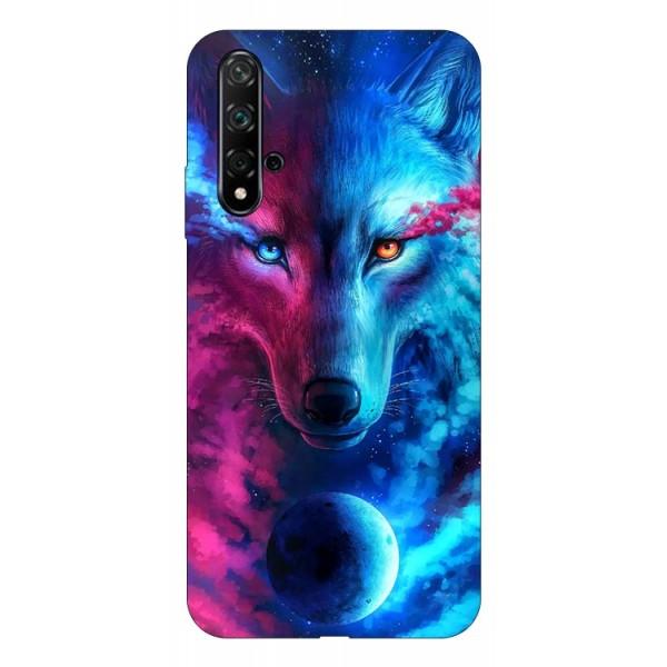 Husa Silicon Soft Upzz Print Compatibila Cu Huawei Huawei Nova 5t Model Wolf imagine itelmobile.ro 2021