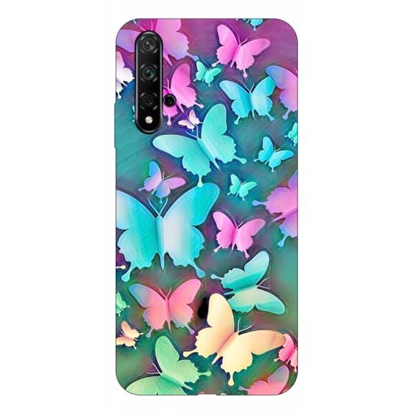 Husa Silicon Soft Upzz Print Compatibila Cu Huawei Huawei Nova 5t Model Colorfull Butterflies imagine itelmobile.ro 2021