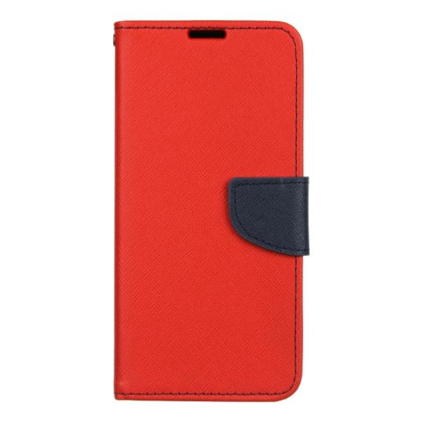Husa Flip Carte Fancy Book Compatibila Cu Samsung M11 / A11 , Navy Rosu imagine itelmobile.ro 2021