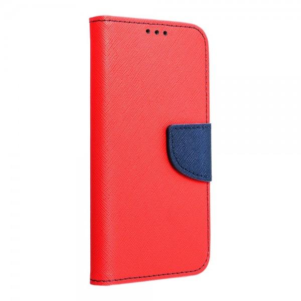 Husa Flip Carte Upzz Fancy Book Compatibila Cu Xiaomi Mi 10t Lite 5g, Navy Rosu imagine itelmobile.ro 2021