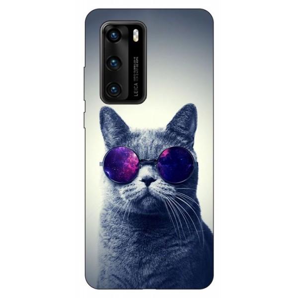 Husa Silicon Soft Upzz Print Compatibila Cu Huawei P40 Model Cool Cat imagine itelmobile.ro 2021