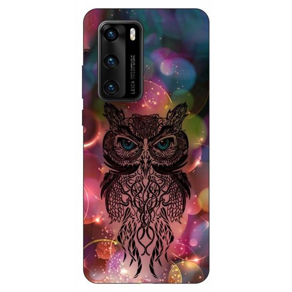 Husa Silicon Soft Upzz Print Compatibila Cu Huawei P40 Model Sparkle Owl imagine itelmobile.ro 2021