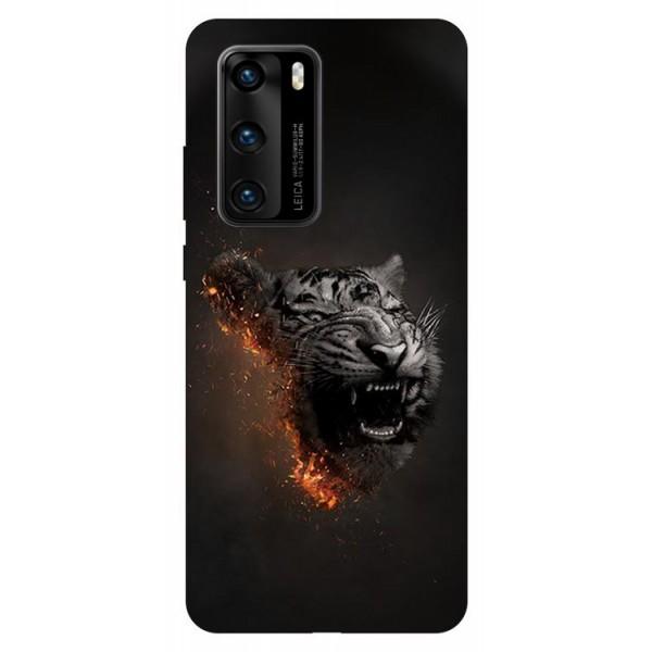 Husa Silicon Soft Upzz Print Compatibila Cu Huawei P40 Model Tiger imagine itelmobile.ro 2021