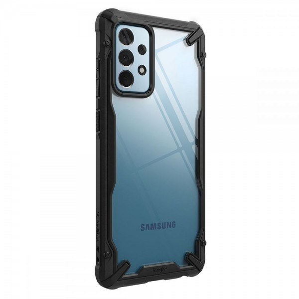 Husa Premium Ringke Fushion X Compatibila Cu Samsung Galaxy A52 5g, Transparenta Cu Margine Neagra imagine itelmobile.ro 2021