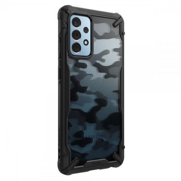 Husa Premium Ringke Fushion X Compatibila Cu Samsung Galaxy A52 5g, Negru Camo imagine itelmobile.ro 2021