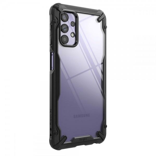 Husa Premium Ringke Fushion X Compatibila Cu Samsung Galaxy A32 5g, Transparenta Cu Margine Neagra imagine itelmobile.ro 2021