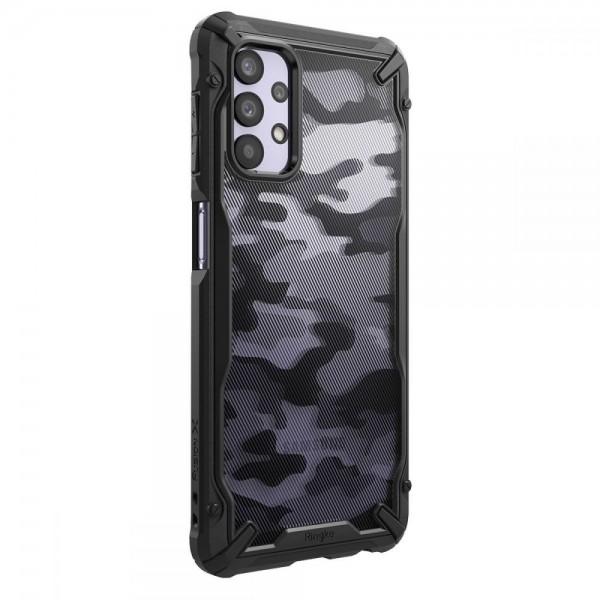 Husa Premium Ringke Fushion X Compatibila Cu Samsung Galaxy A32 5g, Negru Camo imagine itelmobile.ro 2021