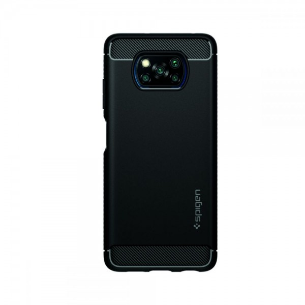 Husa Premium Spigen Rugged Armor Pentru Xiaomi Poco X3 Nfc, Silicon, Negru imagine itelmobile.ro 2021