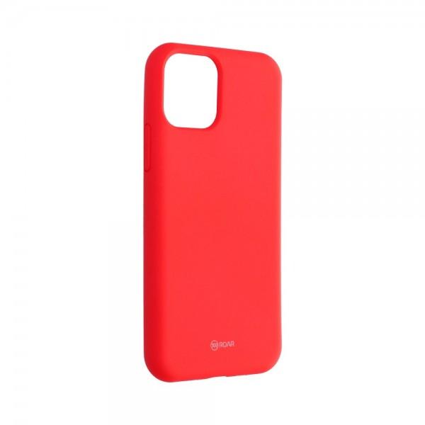 Husa Spate Silicon Roar Jelly Compatibila Cu iPhone 11 Pro, Roz Piersica imagine itelmobile.ro 2021
