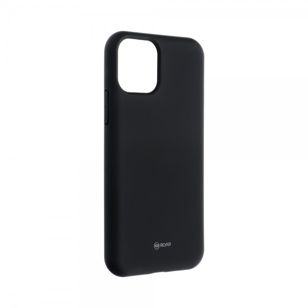 Husa Spate Silicon Roar Jelly Compatibila Cu iPhone 11 Pro, Negru imagine itelmobile.ro 2021
