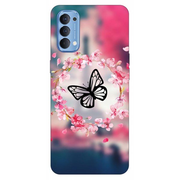 Husa Silicon Soft Upzz Print Compatibila Cu Oppo Reno4 Model Butterfly imagine itelmobile.ro 2021