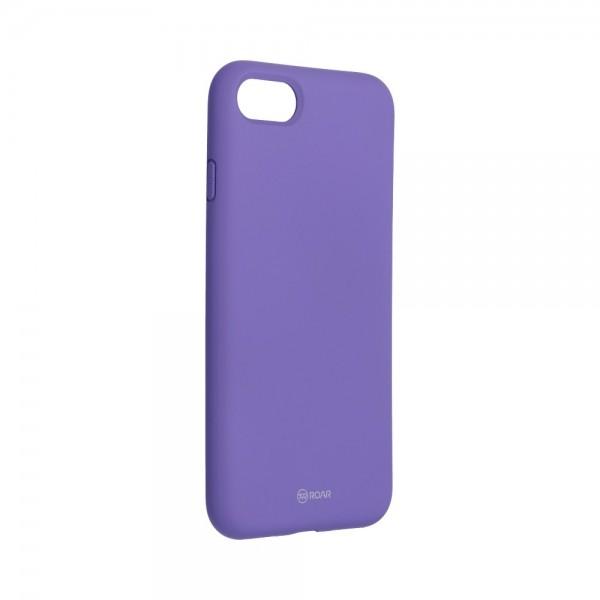 Husa Spate Silicon Roar Jelly Compatibila Cu iPhone 7 / 8 / Se 2 ( 2020 ), Mov imagine itelmobile.ro 2021