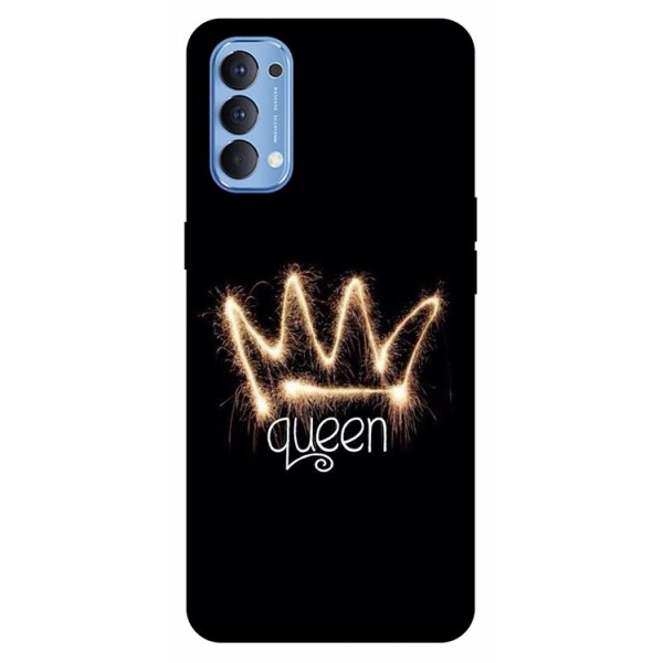 Husa Silicon Soft Upzz Print Compatibila Cu Oppo Reno4 Model Queen imagine itelmobile.ro 2021
