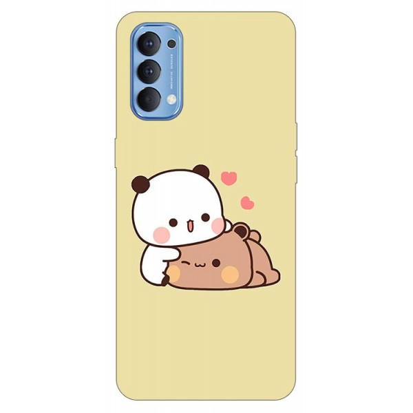 Husa Silicon Soft Upzz Print Compatibila Cu Oppo Reno4 Model Teddy imagine itelmobile.ro 2021