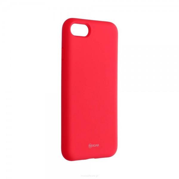 Husa Spate Silicon Roar Jelly Compatibila Cu iPhone 7 / 8 / Se 2 ( 2020 ), Roz Piersica imagine itelmobile.ro 2021