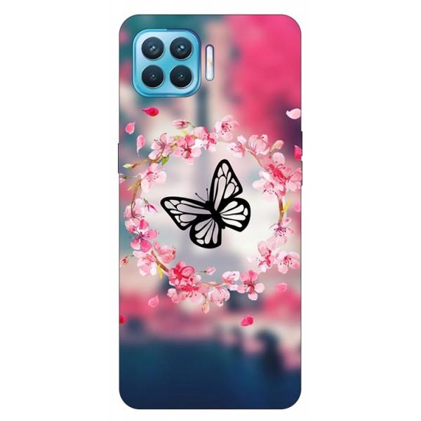 Husa Silicon Soft Upzz Print Compatibila Cu Oppo Reno4 Lite Model Butterfly imagine itelmobile.ro 2021