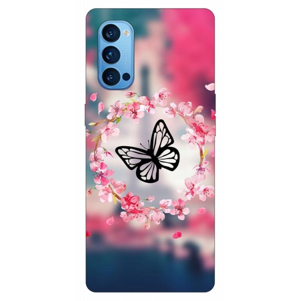 Husa Silicon Soft Upzz Print Compatibila Cu Oppo Reno4 Pro 5G Model Butterfly imagine itelmobile.ro 2021