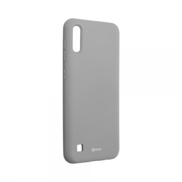 Husa Spate Silicon Roar Jelly Compatibila Cu Samsung Galaxy A10, Gri imagine itelmobile.ro 2021