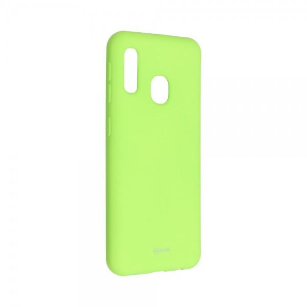 Husa Spate Silicon Roar Jelly Compatibila Cu Samsung Galaxy A20e, Verde Lime imagine itelmobile.ro 2021