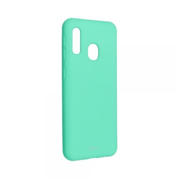 Husa Spate Silicon Roar Jelly Compatibila Cu Samsung Galaxy A20e, Verde Menta imagine itelmobile.ro 2021