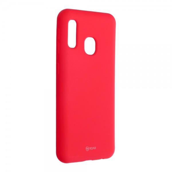 Husa Spate Silicon Roar Jelly Compatibila Cu Samsung Galaxy A20e, Roz Aprins imagine itelmobile.ro 2021