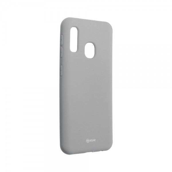 Husa Spate Silicon Roar Jelly Compatibila Cu Samsung Galaxy A20e, Gri imagine itelmobile.ro 2021