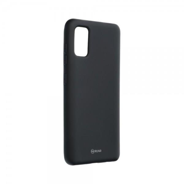 Husa Spate Silicon Roar Jelly Compatibila Cu Samsung Galaxy A41, Negru imagine itelmobile.ro 2021