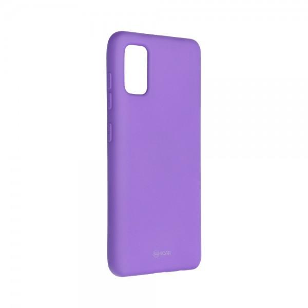 Husa Spate Silicon Roar Jelly Compatibila Cu Samsung Galaxy A41, Mov imagine itelmobile.ro 2021
