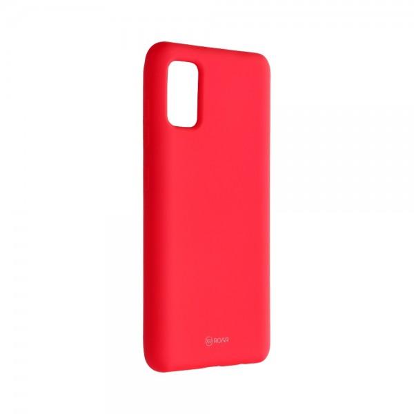 Husa Spate Silicon Roar Jelly Compatibila Cu Samsung Galaxy A41, Roz Aprins imagine itelmobile.ro 2021