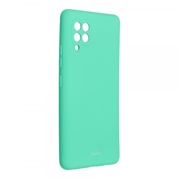 Husa Spate Silicon Roar Jelly Compatibila Cu Samsung Galaxy A42 5G, Verde Menta imagine itelmobile.ro 2021