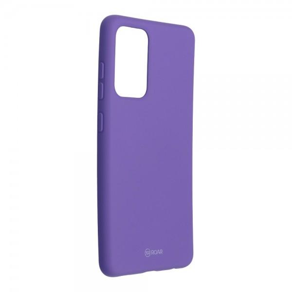 Husa Spate Silicon Roar Jelly Compatibila Cu Samsung Galaxy A52 5G, Mov imagine itelmobile.ro 2021
