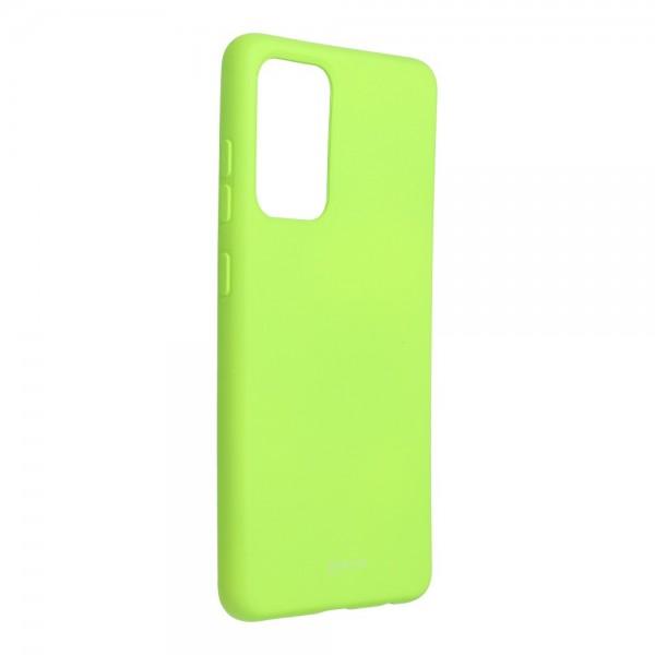 Husa Spate Silicon Roar Jelly Compatibila Cu Samsung Galaxy A52 5G, Verde Lime imagine itelmobile.ro 2021