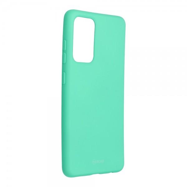 Husa Spate Silicon Roar Jelly Compatibila Cu Samsung Galaxy A52 5G, Verde Menta imagine itelmobile.ro 2021