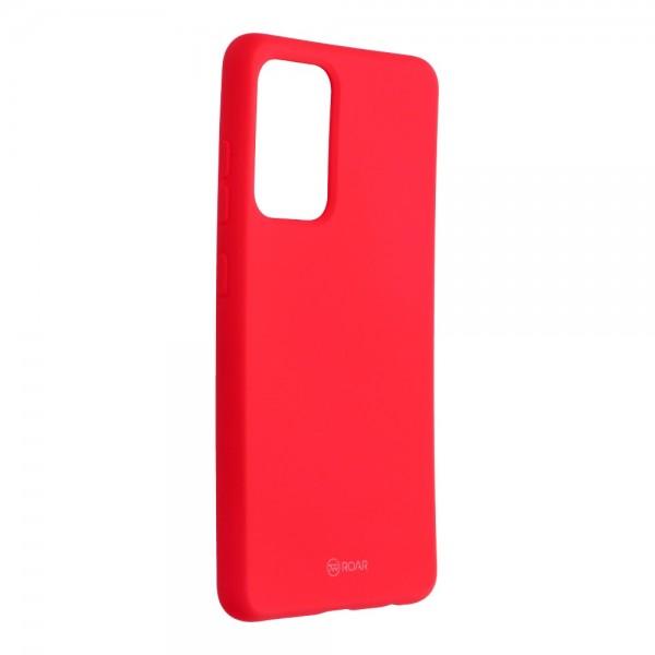 Husa Spate Silicon Roar Jelly Compatibila Cu Samsung Galaxy A52 5G, Roz Aprins imagine itelmobile.ro 2021