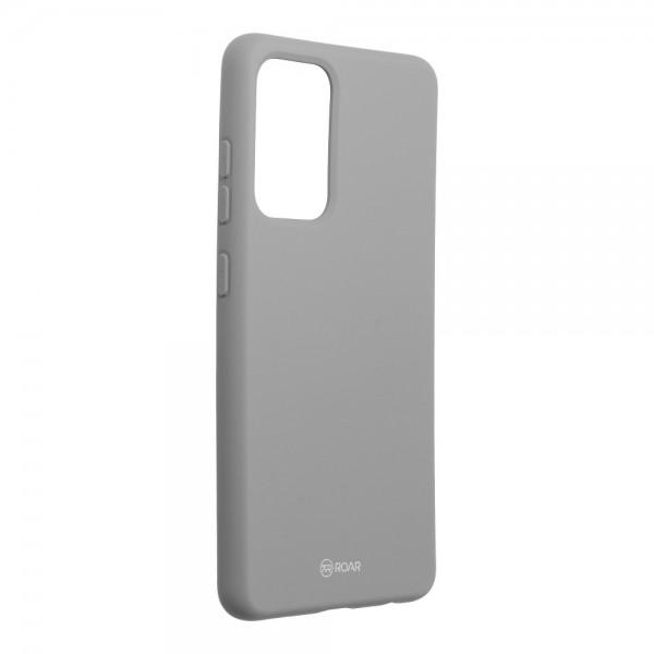 Husa Spate Silicon Roar Jelly Compatibila Cu Samsung Galaxy A52 5G, Gri imagine itelmobile.ro 2021
