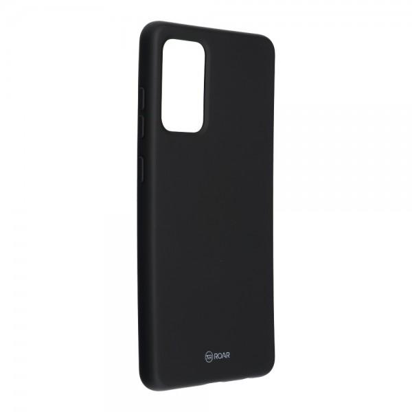 Husa Spate Silicon Roar Jelly Compatibila Cu Samsung Galaxy A72 5G, Negru imagine itelmobile.ro 2021
