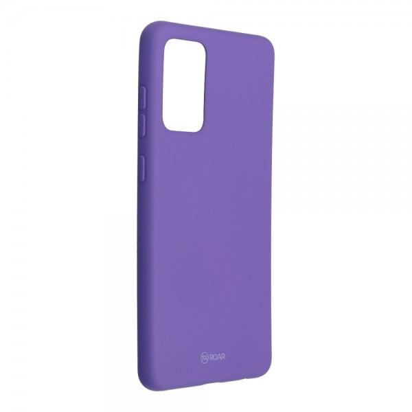Husa Spate Silicon Roar Jelly Compatibila Cu Samsung Galaxy A72 5G, Mov imagine itelmobile.ro 2021