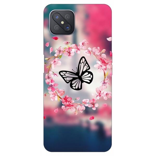 Husa Silicon Soft Upzz Print Compatibila Cu Oppo Reno4 Z 5G Model Butterfly imagine itelmobile.ro 2021