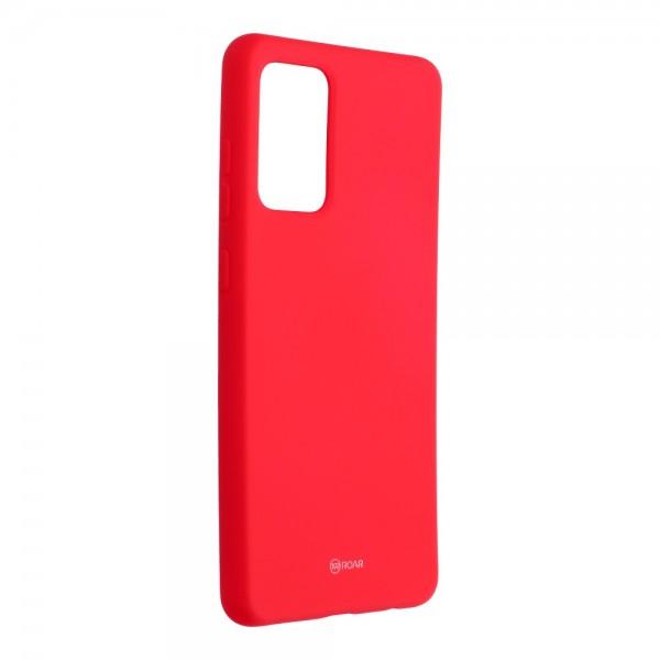 Husa Spate Silicon Roar Jelly Compatibila Cu Samsung Galaxy A72 5G, Roz Aprins imagine itelmobile.ro 2021