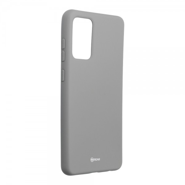 Husa Spate Silicon Roar Jelly Compatibila Cu Samsung Galaxy A72 5G, Gri imagine itelmobile.ro 2021