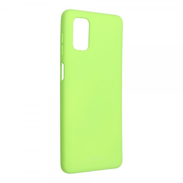 Husa Spate Silicon Roar Jelly Compatibila Cu Samsung Galaxy M51, Verde Lime imagine itelmobile.ro 2021
