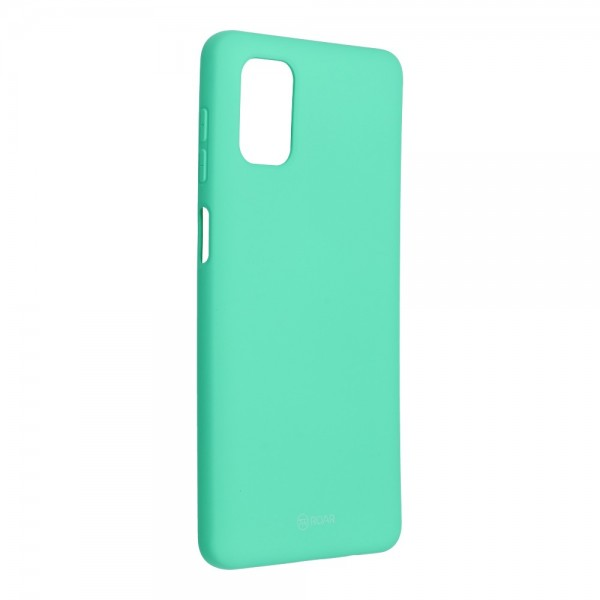 Husa Spate Silicon Roar Jelly Compatibila Cu Samsung Galaxy M51, Verde Menta imagine itelmobile.ro 2021