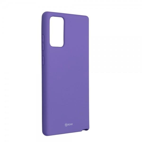 Husa Spate Silicon Roar Jelly Compatibila Cu Samsung Galaxy Note 20, Mov imagine itelmobile.ro 2021