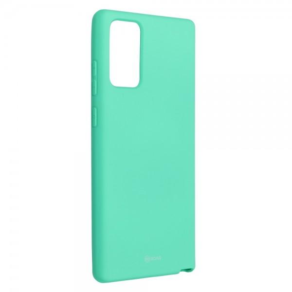 Husa Spate Silicon Roar Jelly Compatibila Cu Samsung Galaxy Note 20, Verde Menta imagine itelmobile.ro 2021