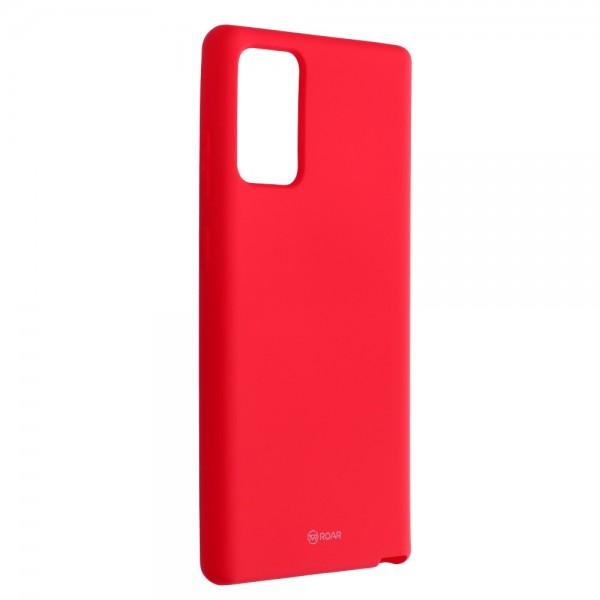 Husa Spate Silicon Roar Jelly Compatibila Cu Samsung Galaxy Note 20, Roz Aprins imagine itelmobile.ro 2021